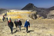 accès aux sommitaux du volcan